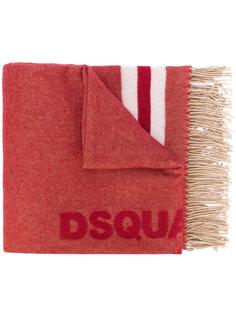 шарф с логотипом и кисточками  Dsquared2
