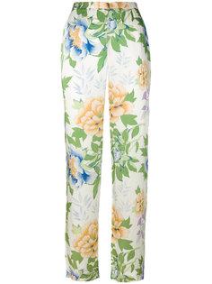 брюки с цветочным принтом  Kenzo Vintage
