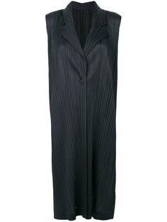 pleated long blazer Pleats Please By Issey Miyake