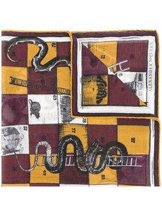 шарф с мотивом настольной игры Alexander McQueen