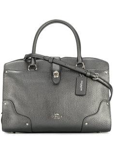 сумка-тоут с эффектом металлик Coach
