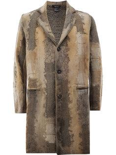 пальто-миди с эффектом изношенности Avant Toi