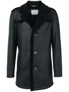 пальто с мехом Lanvin