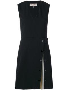 плиссированное платье с V-образным вырезом Emilio Pucci