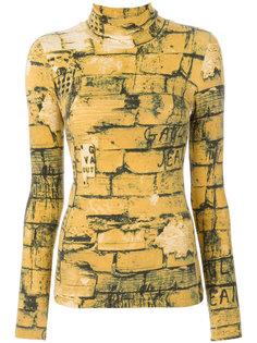 топ с принтом Bricks Jean Paul Gaultier Vintage