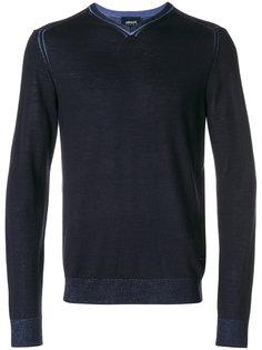 джемпер с V-образным вырезом  Armani Jeans