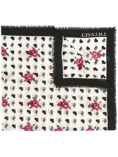 шарф с принтом роз Twin-Set