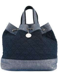 стеганый джинсовый рюкзак с логотипом Chanel Vintage