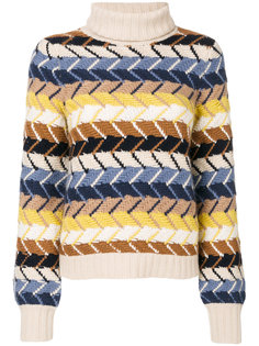 свитер крупной вязки с узором зигзаг  Chloé