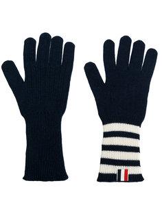 перчатки в рубчик Thom Browne