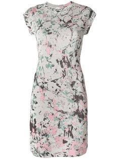 платье мини с короткими рукавами и принтом  M Missoni