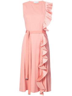 платье миди с плиссированными оборками Altuzarra