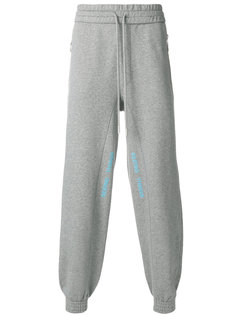 спортивные брюки с деталью в квадрат Off-White