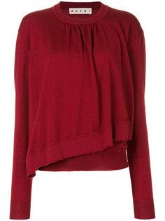 свитер с асимметричным подолом Marni