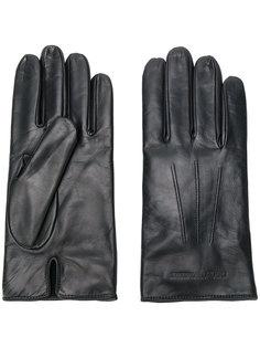 перчатки с тиснением логотипа Emporio Armani