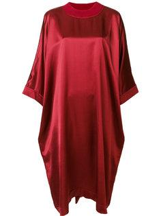 платье шифт с отделкой металлик  Maison Margiela