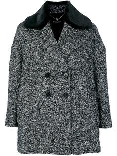 двубортное пальто с заостренными лацканами Twin-Set