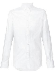 skull jacquard button down shirt Alexander McQueen