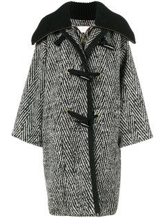 полосатое пальто-кокон свободного кроя Chloé