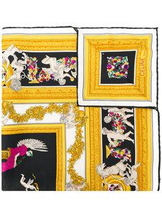 шарф с принтом  Céline Vintage