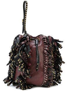 сумка с заклепками и кисточками  Prada Vintage
