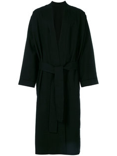 belted robe coat Ann Demeulemeester Grise