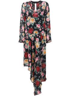 асимметричное платье с цветочным принтом Twin-Set
