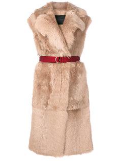belted fur gilet Blancha