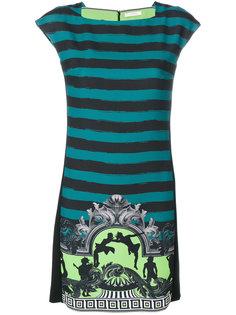 полосатое мини-платье Versace Collection