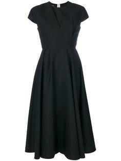 приталенное платье с драпировкой  Rochas