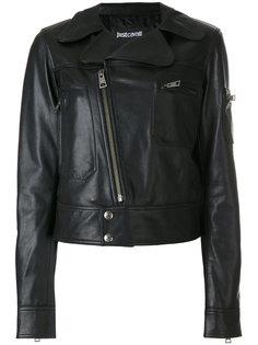 приталенная байкерская куртка Just Cavalli