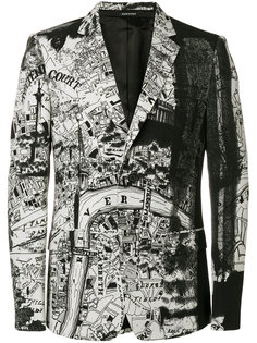 блейзер London Map Alexander McQueen