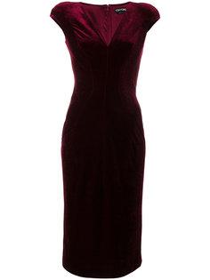 приталенное бархатное платье  Tom Ford