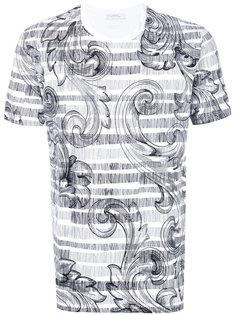 футболка с принтом пейсли Versace Collection
