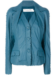 куртка с кромкой зигзаг  Christian Dior Vintage