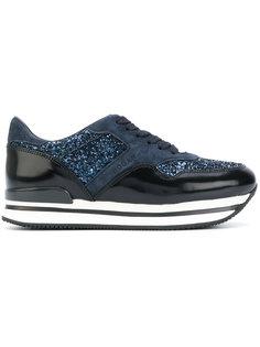 кроссовки с блестящими панелями Hogan