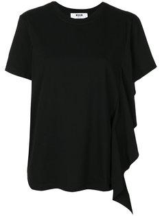 футболка с оборкой  MSGM