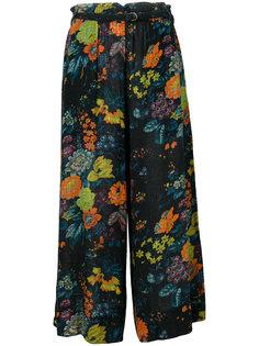 укороченные брюки-палаццо с цветочным принтом  Raquel Allegra