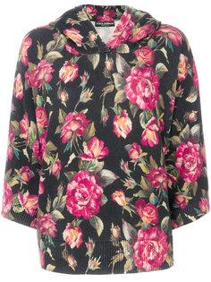 rose printed hoodie Dolce & Gabbana