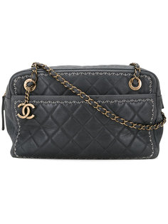 стеганая сумка на плечо с цепочкой и логотипом CC Chanel Vintage