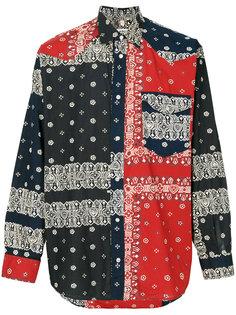 рубашка с принтом  Moschino Vintage
