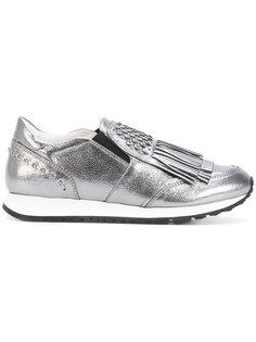 металлические кроссовки с кисточкой Tods Tod`S
