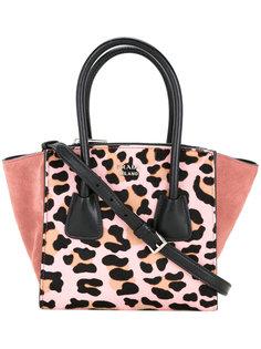 сумка-тоут с леопардовым узором Prada Vintage