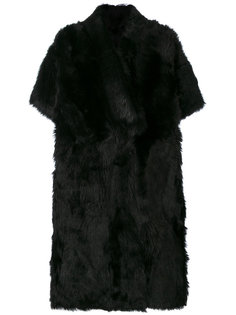 button up fur coat Blancha