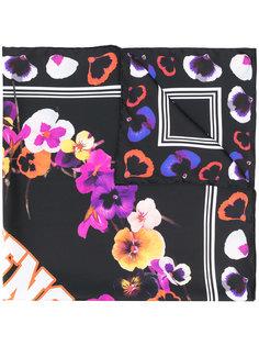 шарф с принтом анютиных глазок и логотипом Givenchy