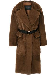 удлиненное пальто с несколькими карманами Blancha
