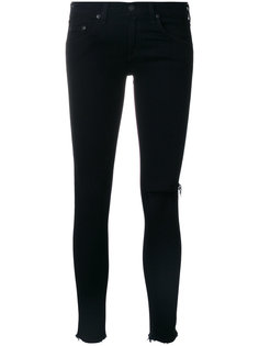 knee rip cropped trousers Rag & Bone /Jean