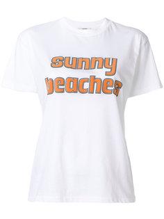 футболка Sunny Beaches Ganni