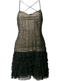 платье мини с оборкой  Dolce & Gabbana Vintage