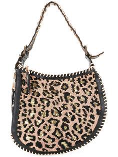 сумка на плечо с леопардовым узором  Fendi Vintage